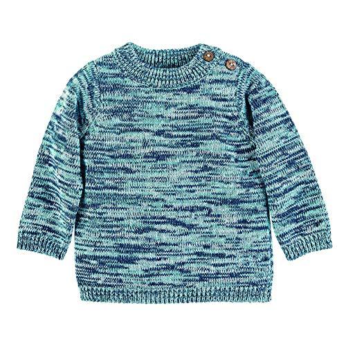 Sterntaler Unisex Kinder Strick-pullover Strickpullover mit elastischem H ftbund und elastischen B ndchen, Blau (Marine), 86 EU