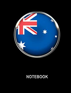 Notebook. Australia Flag Cover. Composition Notebook. College Ruled. 8.5 x 11. 120 Pages.