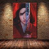 wZUN Film Mulan Unirsi all'esercito Padre Immagine di Arte della Parete Soggiorno Pittura Decorativa su Tela 60x90 Senza Cornice