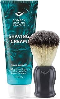 Bombay Shaving Company Shaving Cream and Shaving Brush (Polished Black Handle)