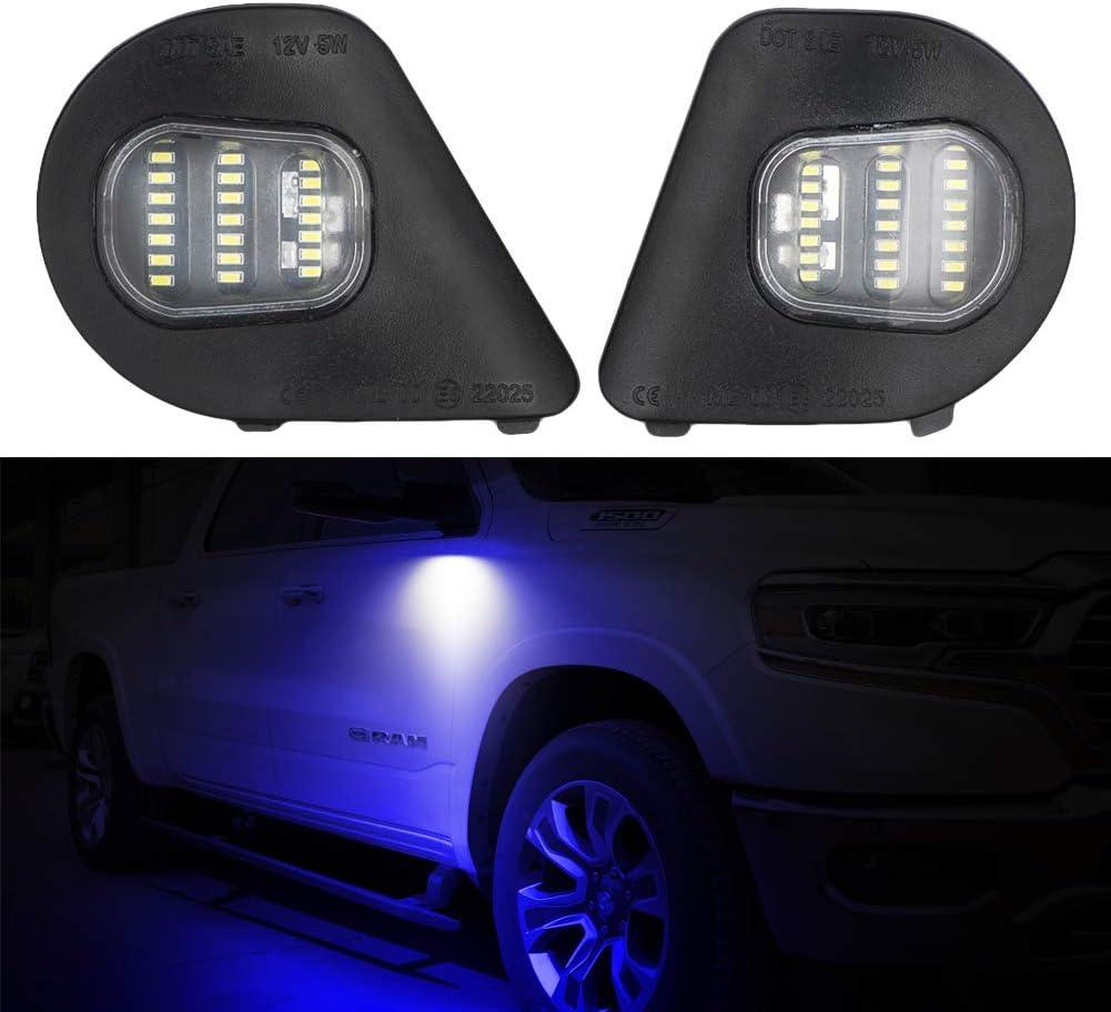 2Pcs 24SMD LED Popular standard Side Mirror Puddle Lamp Assembly For Light Dodge Max 46% OFF