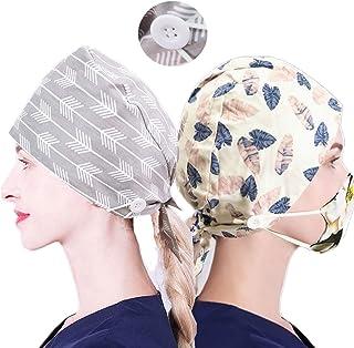 قبعة العمل HAOKUN مع زر وعصابة رأس قابلة للتعديل قبعات منتفخة للنساء الرجال
