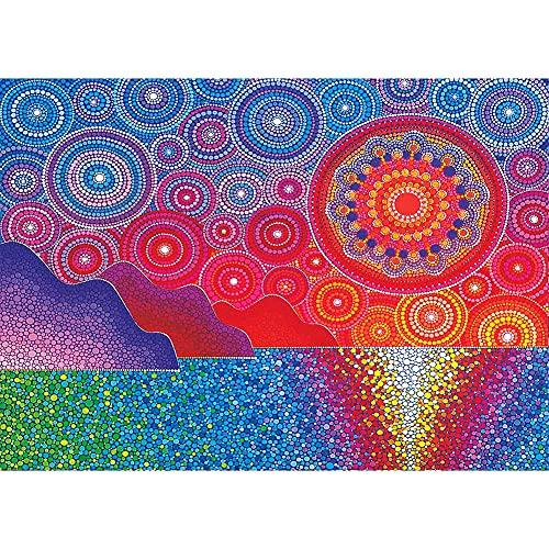liuwei Kit de pintura de diamante 5D, pintura de diamante de imitación, para decoración de la pared del hogar, 40 x 30 cm