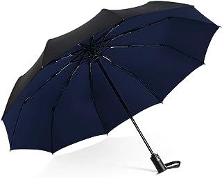DORRISO Men Women Automatic Open/Close Folding Umbrella Extra Strong Windproof Portable Compact Travel Business Sun Umbrel...