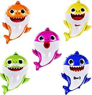 GRAME Shark Party Supplies for Baby, Helium baby shark party balloons, Birthday Decorations Baby Shower Party Supplies (5 pcs)
