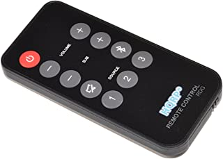 HQRP Remote Control Compatible with Polk Audio 5000 5500 6500 SB6500BT SB5500 SB5000IHT SB5000IHT RE15031 Instant Home Theater Soundbar Speaker System Controller + HQRP Coaster