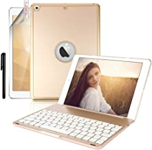 New iPad 9.7 Keyboard Case,Boriyuan Protective Folio Utra Slim Hard Shell Light Weight Stand Smart Cover with Backlit Bluetooth Keyboard and Auto Sleep/Wake for Apple iPad 9.7 2017 2018 Tablet