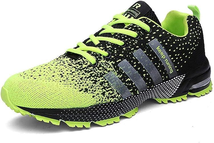 DSX Chaussures de Randonnée Hommes Chaussures de Course Jogging Homme paniers engrener Chaussures de Sport, Jaune, 7.5UK