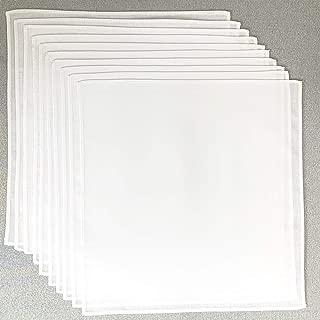 お絵描ハンカチ 白無地ハンカチ10枚組 20×20cm キャンブリック 綿100% 学童サイズ お受験 入園入学準備 染色 刺繍 日本製