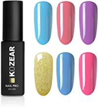 KOZEAR Gel Nail Polish Set Summer Sweet Candy 6 Color Gel Nail Art Gift Box Manicure Kit