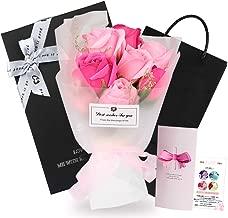 ソープフラワー プレゼント 造花 石鹼花 花束 プレゼント 贈り物 ギフト 誕生日 結婚記念日 卒業祝い 昇進 母の日 父の日 バレンタインデー 記念日 カード付き ピンク