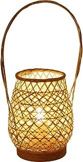Lampe de table de chevet de bureau Lampe de table en rotin de bambou économe en énergie Lampe de chevet en bambou simple d...