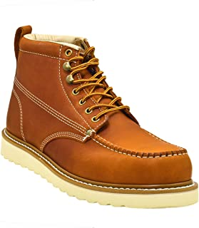 Men's Premium Leather Soft Toe Light Weight Industrial Construction Moc Work Boots Insulated