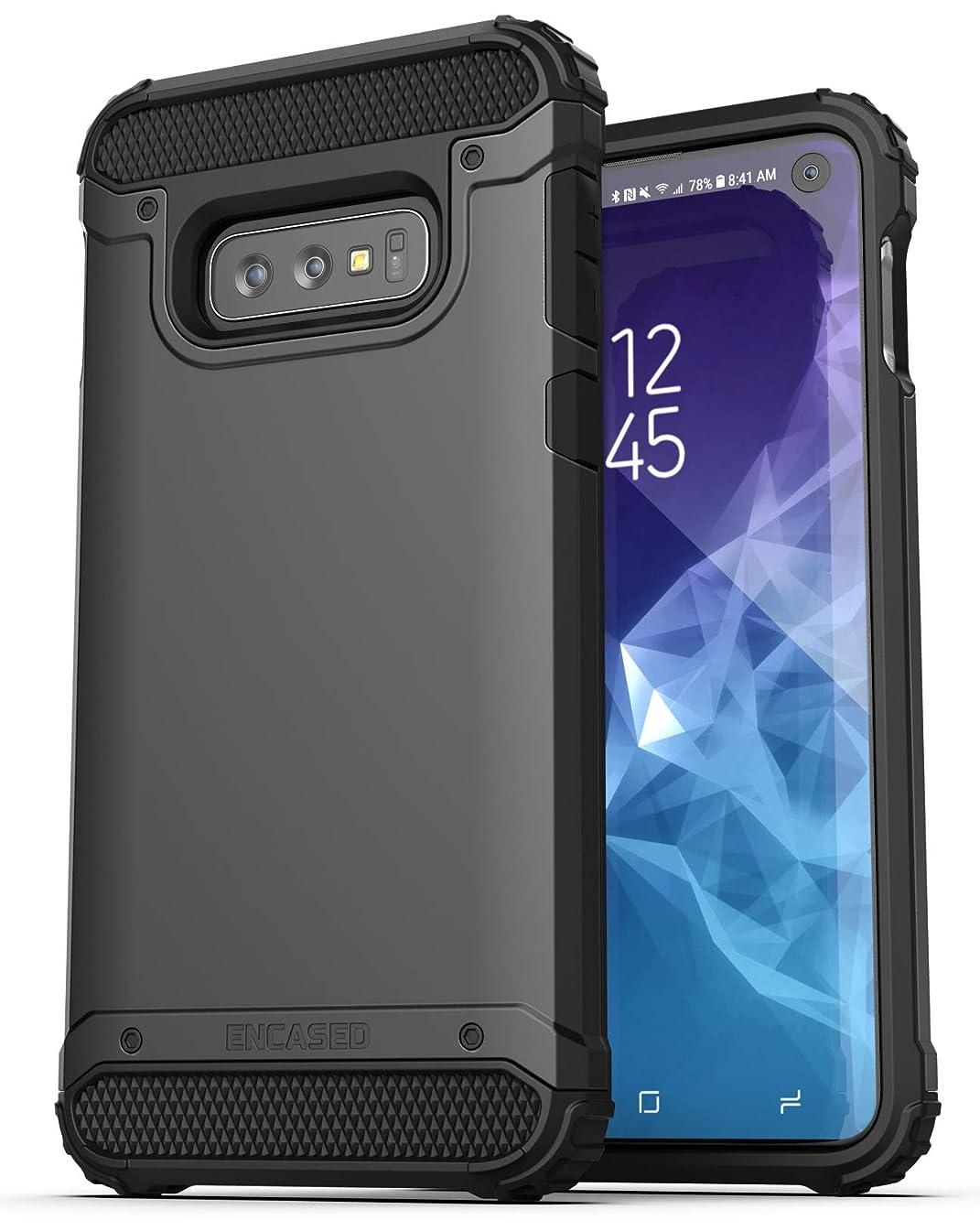 Encased Heavy Duty Galaxy S10e Case (2019 Scorpio Series) Military Grade Rugged Phone Protection Cover (for Samsung Galaxy S10 E) Black
