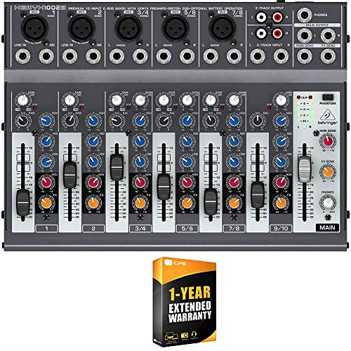 Discover Bargain Behringer XENYX 1002B Premium 10-Input 2-Bus Mixer with XENYX Preamps and British E...