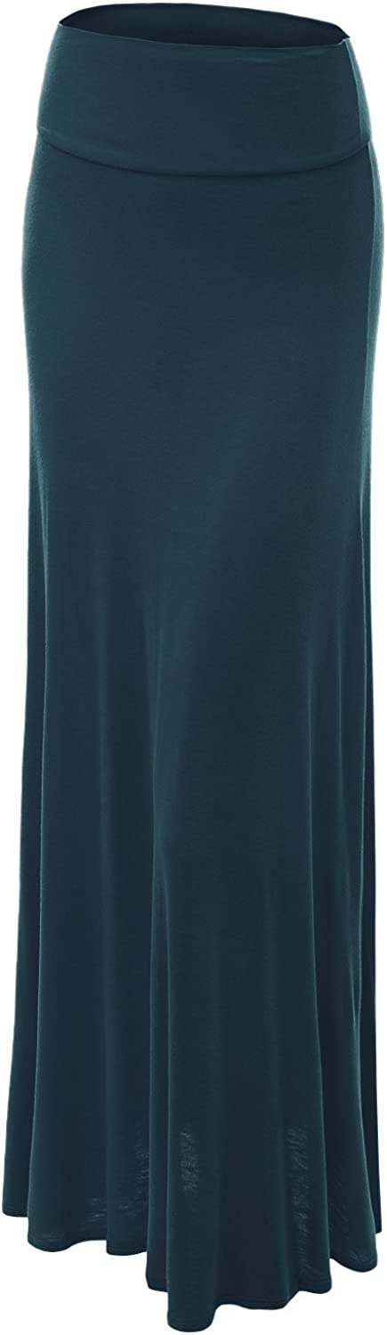 Made by Johnny MBJ WB670 Womens FoldOver Maxi Skirt XXXL TEAL