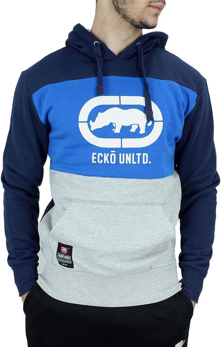 Black Ecko Mens Designer Long Sleeve Full Zip Up Hoodie Jacket Grey Red Blue