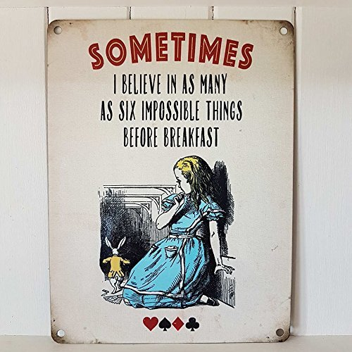 Alice In Wonderland We/'re All Mad You/'ll. og small steel sign 200mm x 150mm