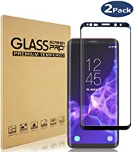 Glass Screen Protector for Samsung Galaxy S9, 3D Curved Tempered Glass, HD, Case Friendly (Black)