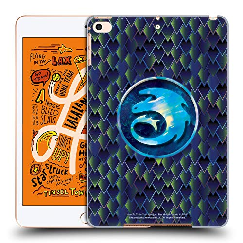 Official How To Train Your Dragon Night Dragonscale Pattern III Night And Light Hard Back Case Compatible for Apple iPad mini (2019)