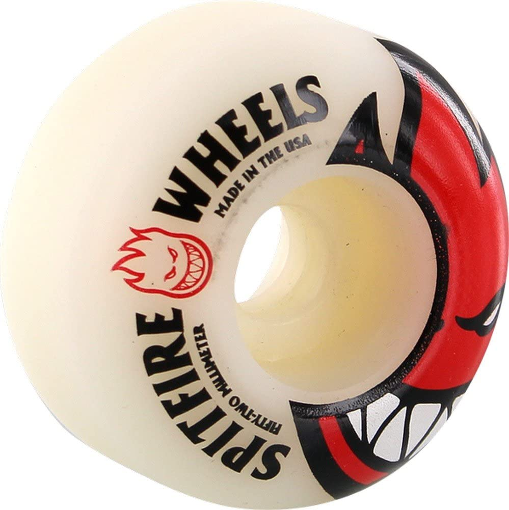 Spitfire Bighead 52mm Max 40% Free shipping on posting reviews OFF White Red Skate Wheels W