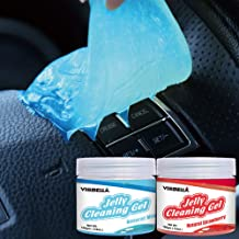 Visbella Jelly Cleaning Putty Magic Gel Slime Remove Dust, Dirt, Hair, Crumbs for Car Interior Home Office Electronics PC Laptop Keyboard Air Vent Instrument, Blue Mint Red Strawberry