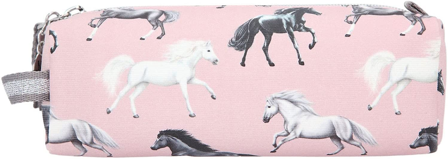 Depesche Depesche-DP-0011440 11440 Miss Melody Lovely Horses, Estuche Rosa con diseño de Caballos, Aprox. Tamaño de 20 x 7 x 7 cm, Ideal para lápices y Herramientas de Maquillaje, Color