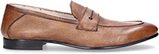 FABI Men's 9289M Brown Leather Loafers