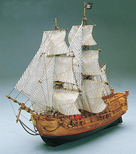 MT768 輸入木製帆船模型マンチュア モデル ブラックファルコン号(60分の帆船模型製作入門DVDおよび資料集付属)