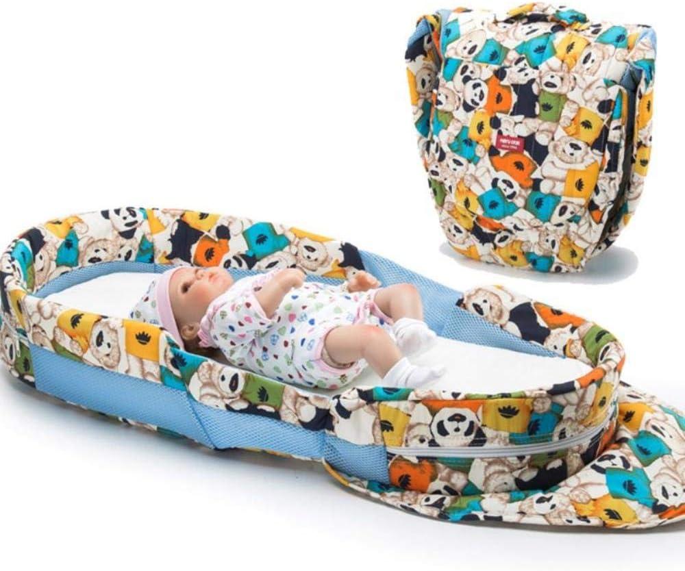 JPZCDK Housse de Matelas pour bébé lit de Voyage pour bébé lit Nouveau-né lit Pliant Mobile pour bébé sécurité et Confort Matelas nid pour Enfants, 1 3