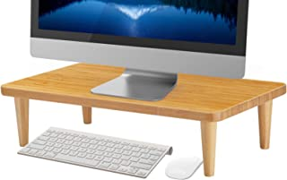 MaxGear Monitor Stand Riser,16 inch Wood Bamboo Computer Monitor Stands for Home Office Business with Sturdy Platform,PC D...