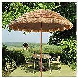 YYQ SHOP Hawaii Sombrilla de Jardín Anti Viento Inclinación Parasol de Paja Redonda protección Solar UV50+,Grande y...