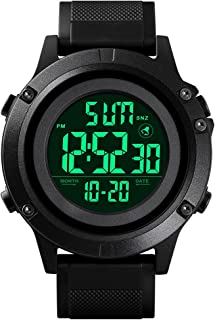 Men's Digital Sports Watch Large Face Military Waterproof Watches for Men with Stopwatch Alarm