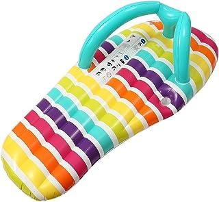 SADDPA 150 * 75cm Flip Flop Flotador de la Piscina Inflable colchón de Aire Piscina Playa Tumbona Flotante for Adultos Cama Ride-on Fiesta en la Piscina Juguetes