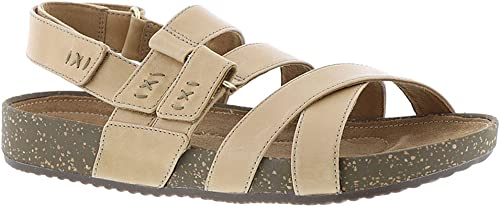 CLARKS Rosilla Keene Sandal - Wohommes Light Tan Leather, 9.5