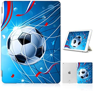 for iPad 5 5th Generaton, iPad 6 6th Generation, iPad 9.7 inch 2017 2018 Version, Designed Smart Case Cover, SMART40181 Football Soccer 40181