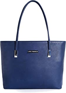 Lino Perros Navy leatherette Tote Bag