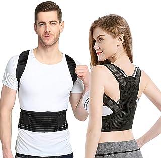 "Sixport Posture Corrector for Women & Men, Kyphosis Brace, Adjustable & Comfortable Scoliosis Back Humpback Correction Belt for Students & Children & Adult (Waistline:29-33"")"