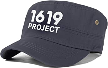 1619 Project Cadet Army Cap Flat Top Sun Cap Military Style Cap