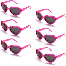 Onnea fashion 6 Neon Colors Heart Shape Party Favors Sunglasses, Multi Packs
