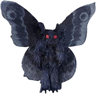 Portonss Gothic Mothman Plushie 8x9inch with Bright Red Eye Stuffed Plush Doll for Home Decoration Birthday Friends