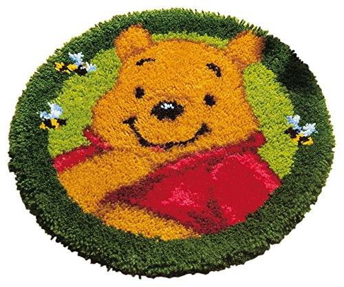 Vervaco Winnie The Pooh Knüpfset Teppich, Baumwolle, Mehrfarbig, 50 x 50 cm