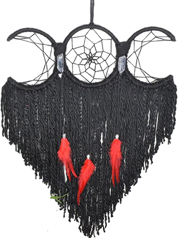 Saijun Handmade unisex Multicolor Triple Moon Dream of Catcher Gift Weekly update L A