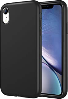 MoKo Compatible with iPhone XR Case, Shockproof Slim Fit Liquid Silicone Gel Rubber Protective Case Soft Touch Back Cover Fit with Apple iPhone XR 6.1 inch 2018 - Black