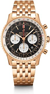 Breitling Solid Rose Gold Navitimer 1 B01 Chronograph 43 Mens Watch