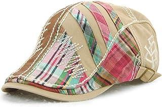 c71a4d25b3b Topshion Men s Cotton Flat Cap Newsboy Ivy Irish Cabbie Scally Cap Casual  Driving Caps Hats Golf