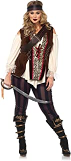 Leg Avenue Women's Plus Size Pirate Captain Costume