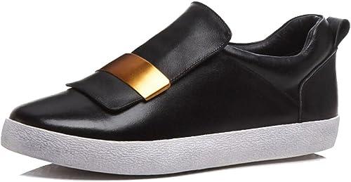 LOHU Plat Chaussures Décontractées Esvoiturepins Mocassins Mode Mocassins Confortable Blanc Noir Argent