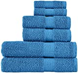 SweetNeedle -Uso diario Juego de toallas de 6 piezas, azul cian -2...