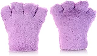 LIUFULING Cute Cartoon Cat Claw Gloves  with High-Quality and Thick Plush,Suitable for Men and Wome, Boys and Girls, and Suitable for Christmans Gifts (Color : Purple)